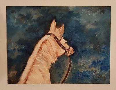 Honey Palomino Horse 28 Art Print