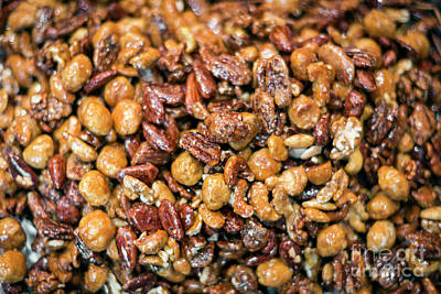 Photograph - Honey Roasted Mixed Nuts Sweet Healthy Snack by Jacek Malipan