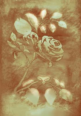 Mix Medium Digital Art - Honey Rose I by Delynn Addams