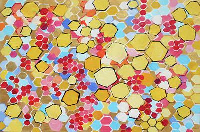 Painting - Honeycomb 201755 by Alyse Radenovic