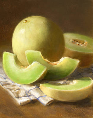 Fruit Painting - Honeydew Melons by Robert Papp