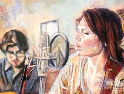 Painting - Honeyhoney Band by Rebecca Glaze