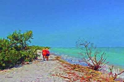 Seascape Digital Art - Honeymoon Island On A Clear Day by George Voyajolu