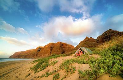 Photograph - Honeymoon On Polihale Beach by T Brian Jones
