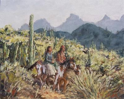 Honeymoon Trail Art Print by Gretchen Price