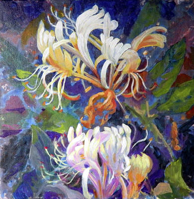 Painting - Honeysuckle by Elaine Hines