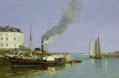 Pollution Painting - Honfleur by Eugene Louis Boudin