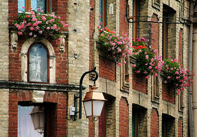 Photograph - Honfleur Flower Boxes by Joe Bonita