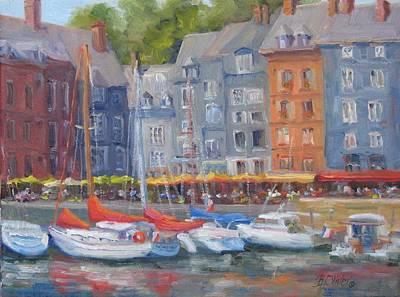 Honfleur Harbor Original by Bunny Oliver