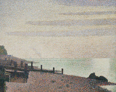 Painting - Honfleur One Evening Mouth Of The Seine by Georges-Pierre Seurat