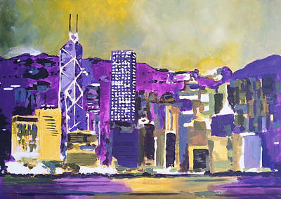 Hong Kong Painting - Hong Kong by Angelina Sofronova