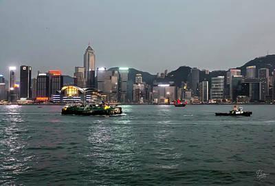 Photograph - Hong Kong At Dusk by Endre Balogh