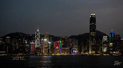 Photograph - Hong Kong At Night 1 by Endre Balogh