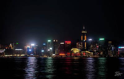 Photograph - Hong Kong At Night 2 by Endre Balogh