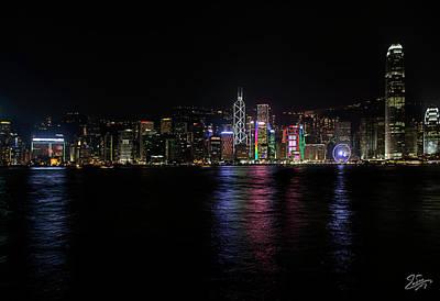 Photograph - Hong Kong At Night 3 by Endre Balogh
