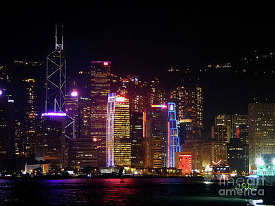 Photograph - Hong Kong At Night by Lynn Bolt