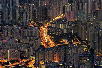 Photograph - Hong Kong By Night by Jose Luis Vilchez