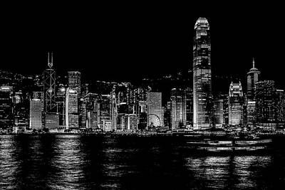 Photograph - Hong Kong By Night by Yancho Sabev
