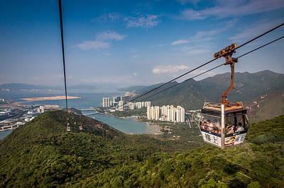 Photograph - Hong Kong Cable Car by Dave Hall