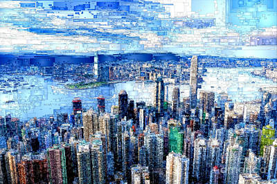 Digital Art - Hong Kong, China by Rafael Salazar