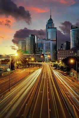 Photograph - Hong Kong Cityscape by Anek Suwannaphoom