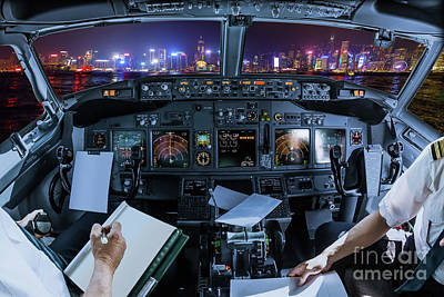 Photograph - Hong Kong Cockpit Flight by Benny Marty