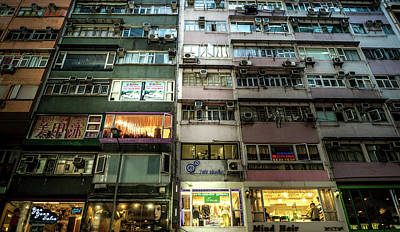 Hong Kong Photograph - Hong Kong Facades by Sebastien Chort