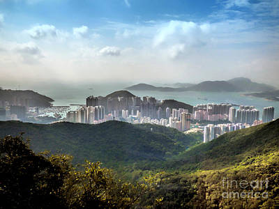 Hong Kong From Victoria Peak Art Print by Lynn Bolt