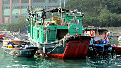 Photograph - Hong Kong Harbor 10 by Randall Weidner