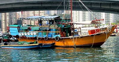 Photograph - Hong Kong Harbor 12 by Randall Weidner