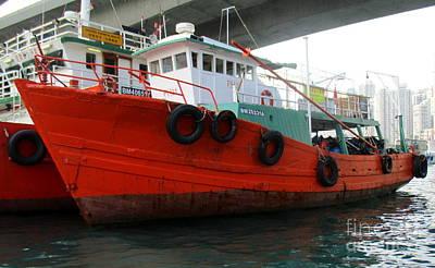 Photograph - Hong Kong Harbor 13 by Randall Weidner
