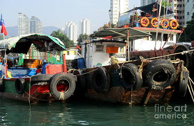 Photograph - Hong Kong Harbor 16 by Randall Weidner
