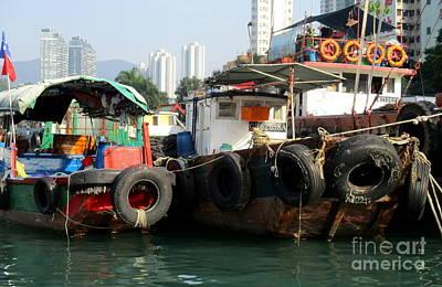 Photograph - Hong Kong Harbor 16 by Randall Weidner