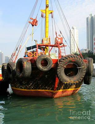 Photograph - Hong Kong Harbor 17 by Randall Weidner