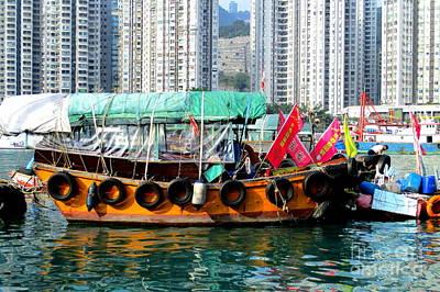 Photograph - Hong Kong Harbor 19 by Randall Weidner