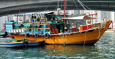Photograph - Hong Kong Harbor 20 by Randall Weidner