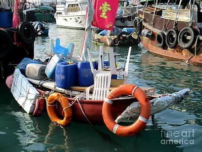Photograph - Hong Kong Harbor 21 by Randall Weidner