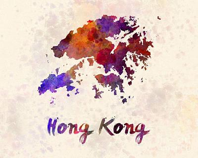 Hong Kong In Watercolor Art Print by Pablo Romero