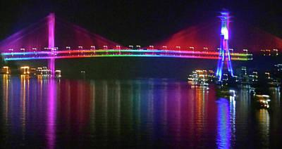 Photograph - Hong Kong Lights 17 by Ron Kandt