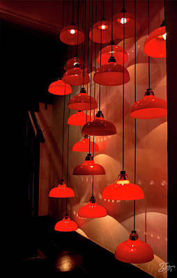 Photograph - Hong Kong Restaurant Lights by Endre Balogh