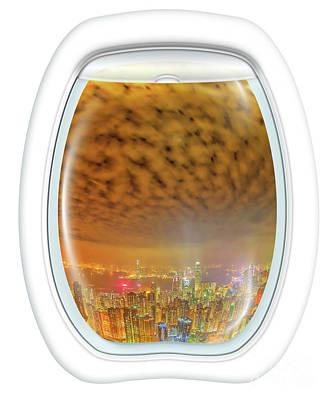 Photograph - Hong Kong Scenic Flight by Benny Marty
