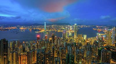 Photograph - Hong Kong Skyline by Anek Suwannaphoom