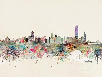 Painting - Hong Kong Skyline by Bleu Bri