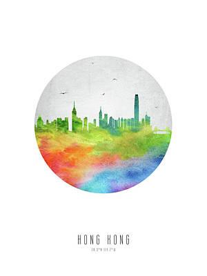Hong Kong Skyline Chhk20 Art Print by Aged Pixel