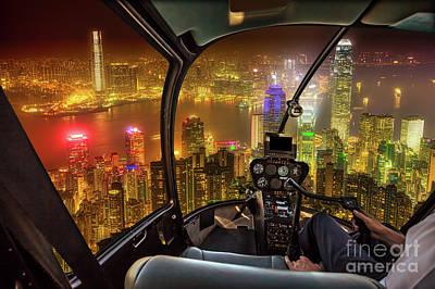 Wan Chai Photograph - Hong Kong Skyline Flight by Benny Marty