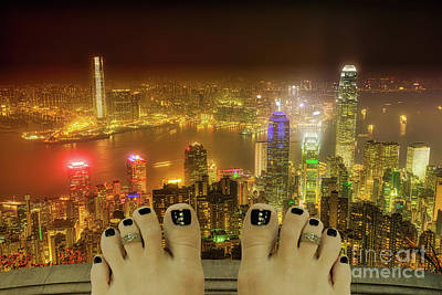 Photograph - Hong Kong Suicide by Benny Marty