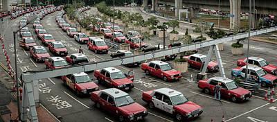 Photograph - Hong Kong Taxis by Roy Cruz