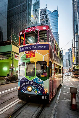 Photograph - Hong Kong Tram by Dave Hall