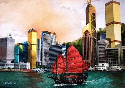 Hong Kong Print by V  Reyes