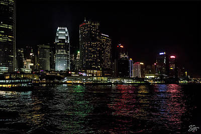 Photograph - Hong Kong Water At Night by Endre Balogh